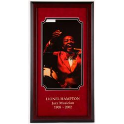 Lionel Hampton Signed 15.75x29.75 Custom Framed Photo Display (Hollywood Collectibles COA)