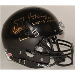 "Jerry Kramer Signed Idaho Vandals Full-Size Helmet Inscribed ""Last To Wear '64'"" (Radtke COA)"