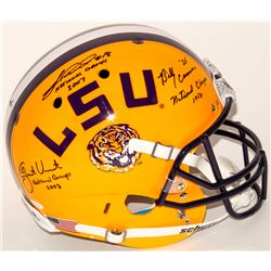Billy Cannon, Jacob Hester  Justin Vincent Signed LSU Tigers Full-Size Helmet With (3) National Cham