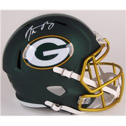 Aaron Rodgers Signed Packers Full-Size Blaze Speed Helmet (Steiner Hologram)