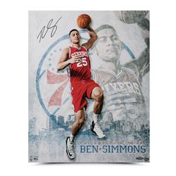 "Ben Simmons Signed 76ers ""All Systems Go"" 16x20 Photo (UDA COA)"