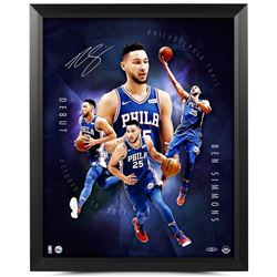 "Ben Simmons Signed 76ers ""Inauguration"" 16x20 Custom Framed Photo (UDA)"