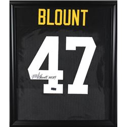 "Mel Blount Signed Steelers 23x27 Custom Framed Jersey Inscribed ""HOF 89"" (Radtke COA)"