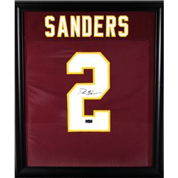 Deion Sanders Signed Florida State Seminoles 23x27 Custom Framed Jersey Display (Radtke COA)