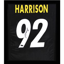 James Harrison Signed Steelers 23x27 Custom Framed Jersey Display (Radtke COA)