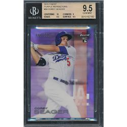 2016 Finest Purple Refractors #58 Corey Seager #085/250 (BGS 9.5)