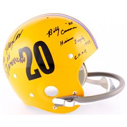 Billy Cannon  Jim Taylor Signed LSU Tigers Authentic Throwback Suspension Full-Size Helmet Inscribed