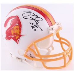 Mike Alstott Signed Buccaneers Throwback Mini-Helmet (Radtke COA)