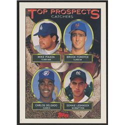 1993 Topps #701 Mike Piazza / Brook Fordyce / Carlos Delgado / Donnie Leshnock