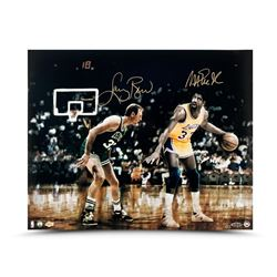 "Magic Johnson  Larry Bird Signed ""Lakers vs Celtics"" LE 16x20 Photo (UDA COA)"
