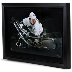 Wayne Gretzky Signed Kings LE 16x24 Custom Framed Hockey Stick Blade Shadowbox Display (UDA COA)
