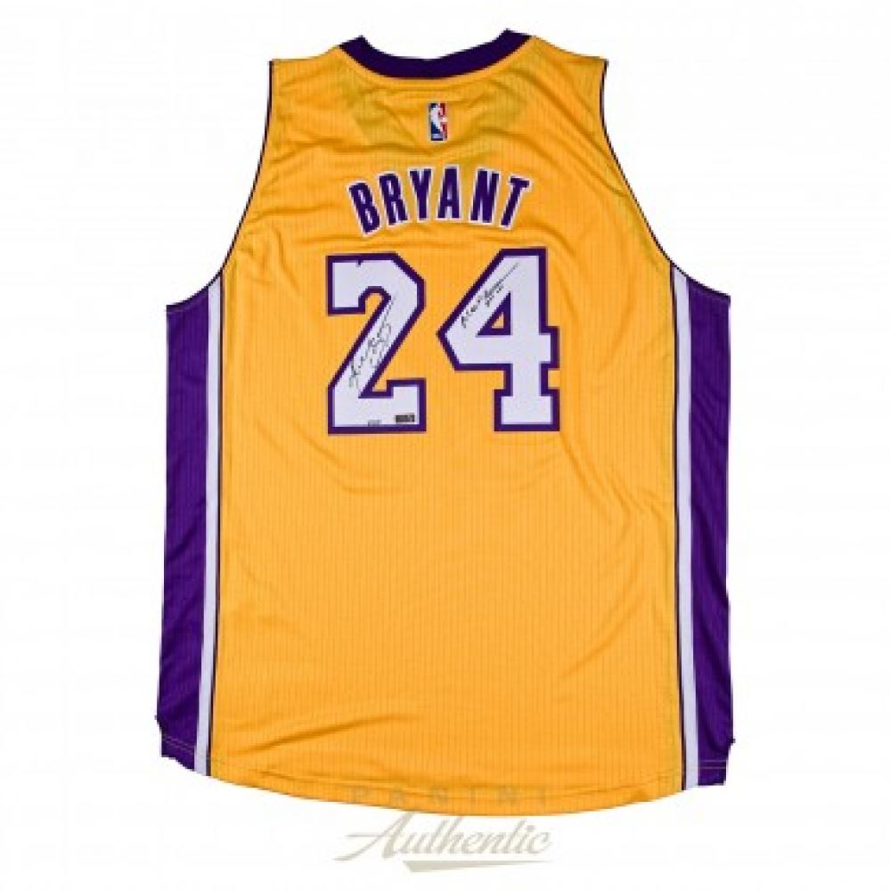 Image 1   Kobe Bryant Signed LE Lakers Authentic Adidas Jersey Inscribed