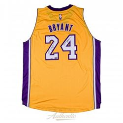 "Kobe Bryant Signed LE Lakers Authentic Adidas Jersey Inscribed ""Mamba Out"" (Panini COA)"