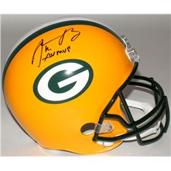"Aaron Rodgers Signed Packers Full-Size Helmet Inscribed ""XLV MVP"" (Steiner Hologram)"