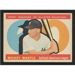 1960 Topps #563 Mickey Mantle All Star