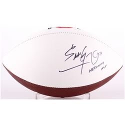 "Eddie George Signed Ohio State Buckeyes Logo Football Inscribed ""Heisman 1995"" (Radtke Hologram)"
