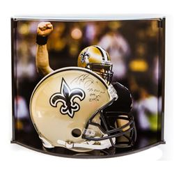 "Drew Brees Signed LE Saints Full-Size Authentic On-Field Helmet Inscribed ""SB XLIV MVP,"" ""288 Yds"""