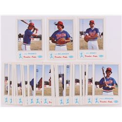 1983 Visalia Oaks Fritsch Complete Set of (25) Baseball Cards with Kirby Puckett RC, Lee Belanger, J