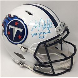 "Marcus Mariota Signed Titans LE Full-Size Authentic On-Field Speed Helmet Inscribed ""2015 1st Round"