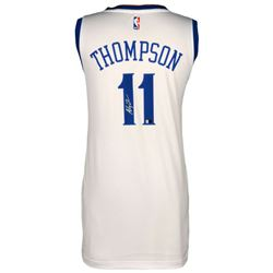 Klay Thompson Signed Warriors Jersey (Fanatics Hologram)