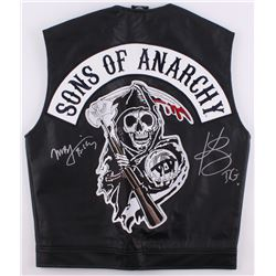 "Kim Coates  Mark Boone Jr. Signed ""Sons of Anarchy"" Vest Inscribed ""Tig""  ""Bobby"" (Radtke COA)"