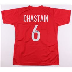 Brandi Chastain Signed Team USA Jersey (JSA COA)
