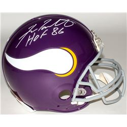 "Fran Tarkenton Signed Vikings Throwback Full-Size Authentic On-Field Helmet Inscribed ""HOF 86"" (Radt"