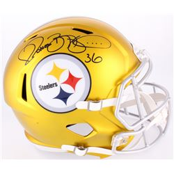 Jerome Bettis Signed Steelers Full-Size Blaze Speed Helmet (Radtke COA)