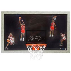 "Michael Jordan Signed LE Bulls ""Winning"" 18.5x30.5 Custom Framed Backboard Display (UDA COA)"