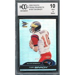 2000 Pacific Prism Prospects #156 Tom Brady RC (BCCG 10)