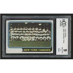 1974 Topps #363 New York Yankees Team Card  (BCCG 9)