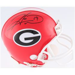 Hines Ward Signed Georgia Bulldogs Mini-Helmet (JSA COA)