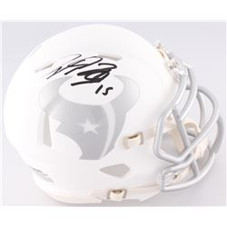 Will Fuller Signed Texans Custom Matte White ICE Mini Helmet (JSA COA)