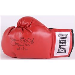 "James ""Buster"" Douglas Signed Everlast Boxing Glove Inscribed ""Tyson KO 2/11/90"" (JSA COA)"