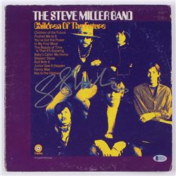 "Steve Miller Signed ""The Steve Miller Band: Children of the Future"" 12.5x12.5 Vinyl Album Cover (Bec"