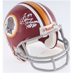 "Sonny Jurgensen Signed Redskins Mini-Helmet Inscribed ""HOF 83"" (JSA COA)"
