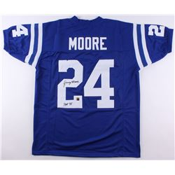 "Lenny Moore Signed Colts Jersey Inscribed ""HOF 75"" (Jersey Source COA)"