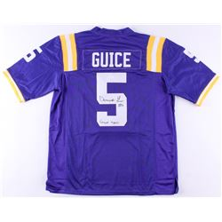 """Derrius Guice Signed LSU Tigers Jersey Inscribed """"Geaux Tigers""""(JSA COA)"""