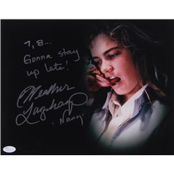 """Heather Langenkamp Signed """"Nightmare on Elm Street"""" 11x14 Photo Inscribed """"7,8 Gonna Stay Up Late"""""""