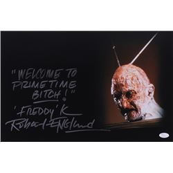"Robert Englund Signed ""Nightmare on Elm Street"" 12x18 Photo with (2) Inscriptions (JSA COA)"