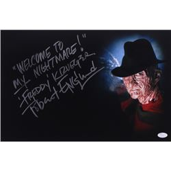 "Robert Englund Signed ""Nightmare on Elm Street"" 12x18 Photo Inscribed ""Welcome to my Nightmare""  ""Fr"