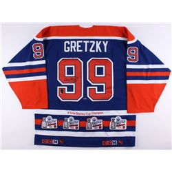 Wayne Gretzky Signed LE Oilers Stanley Cup Captains Jersey (Gretzky COA)