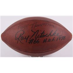 Bart Starr, Ray Nitschke  Fuzzy Thurston Signed 1963 Packers Game-Used NFL Official Game Ball with P