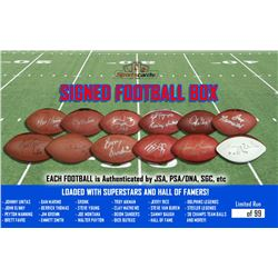 "Sportscards.com ""Football Box"" - Mystery Superstar or HOF'er Signed Football"