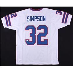 "O.J. Simpson Signed Bills Jersey Inscribed ""HOF 85"" (JSA COA)"
