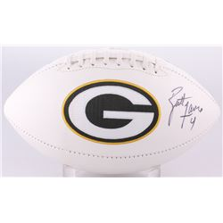 Brett Favre Signed Packers Logo Football (PSA COA  Brett Favre Hologram)