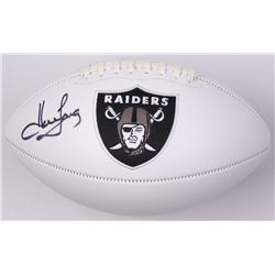 Howie Long Signed Raiders Logo Football (JSA COA)