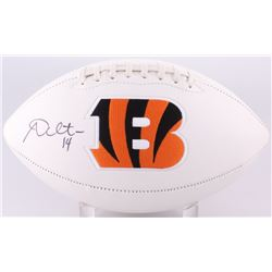 Andy Dalton Signed Bengals Logo Football (JSA COA)