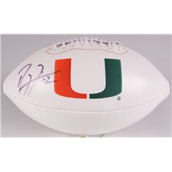 Ray Lewis Signed Miami Hurricanes Logo Football (PSA COA)