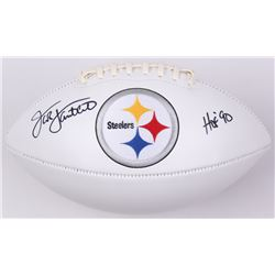 "Jack Lambert Signed Steelers Logo Football Inscribed ""HOF 90"" (JSA COA)"
